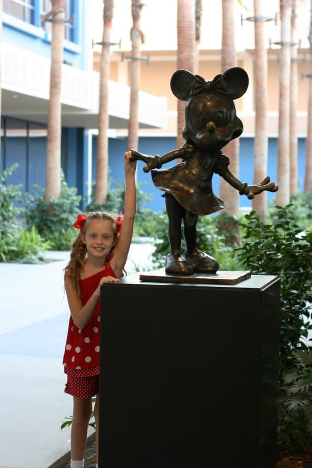 Shaking hands with Minnie at the Disneyland Hotel.