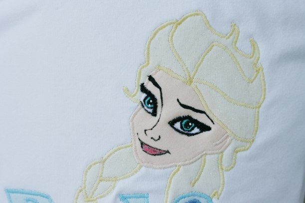 Elsa Frozen tee by Painted Butterfly Studio