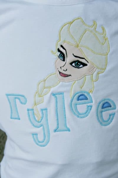 DIY Feature – Appliqued Elsa T-Shirt