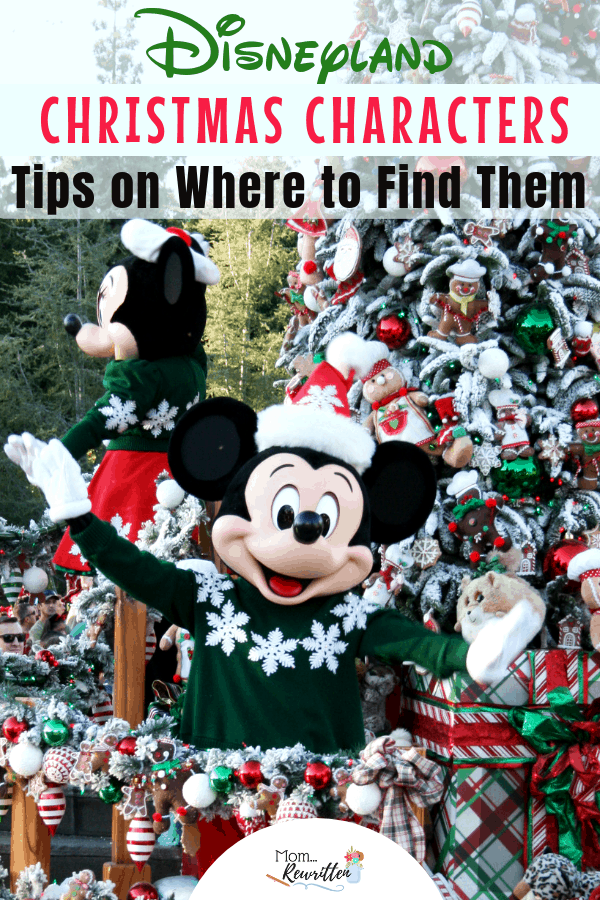 Looking for all the tips on meeting characters at Disneyland during the holiday season? I'm sharing where to find Mickey & Minnie, other Disney characters dressed for Christmas and where to find Santa at Disneyland! These time saving tips will guide you on how to meet n' greet, parade tips to see Disney characters in winter wear and where to get souvenir autographs at the Disneyland resort in California. #Disneyland #Christmas | Disneyland Christmas | Holidays at Disneyland | Disneyland Santa
