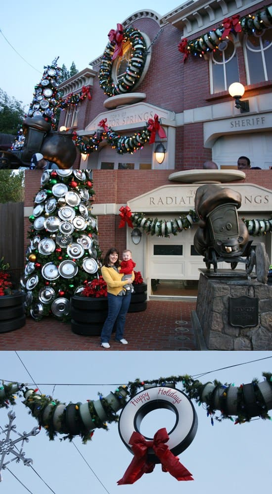 Beautiful Christmas decor at Disneyland {Saving Up for Disney}