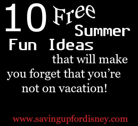 You won't even miss vacation, you'll have so much fun at home! {Saving up for Disney}