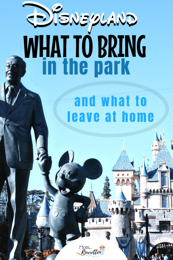 Planning a Disneyland trip but not sure what you'll need inside the park? These are the top 20 things to bring with you on a Disneyland vacation and a list of the banned items you should leave at home! Read all the tips on what essentials you should have, advice for traveling with a baby, how to save money in the parks and whether a rain poncho is a good idea. #Disneyland #Packing | Family Travel | Disney California | Disney Vacation | Disney Packing Tips | Disney Tips