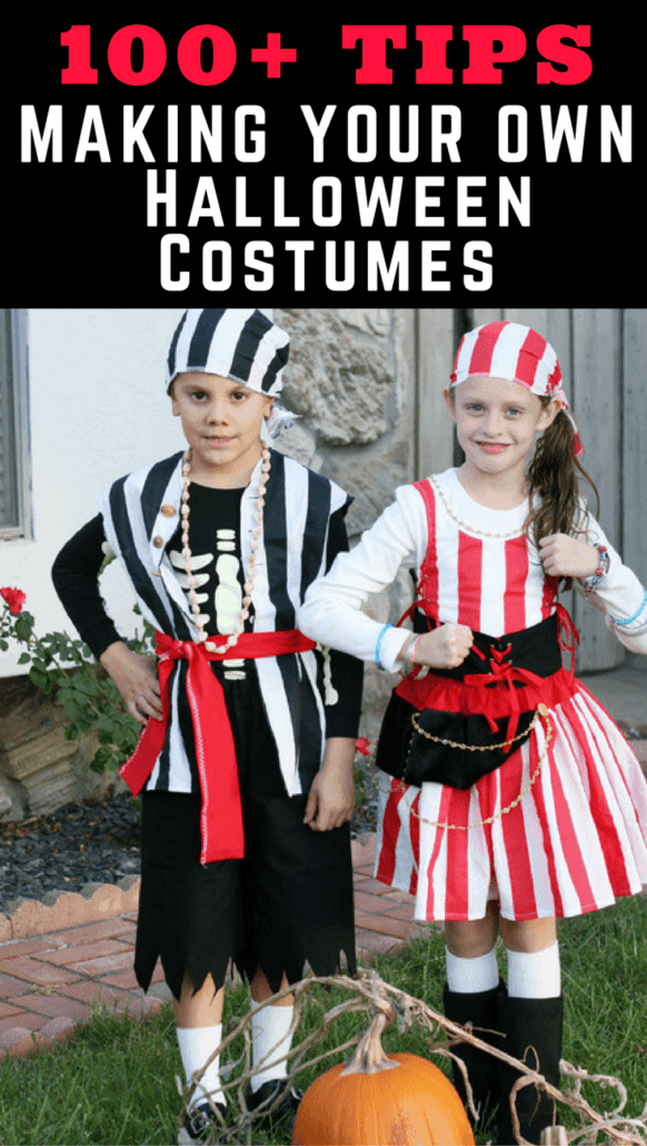 Tons of tips for making your own Halloween costumes, all on a budget!