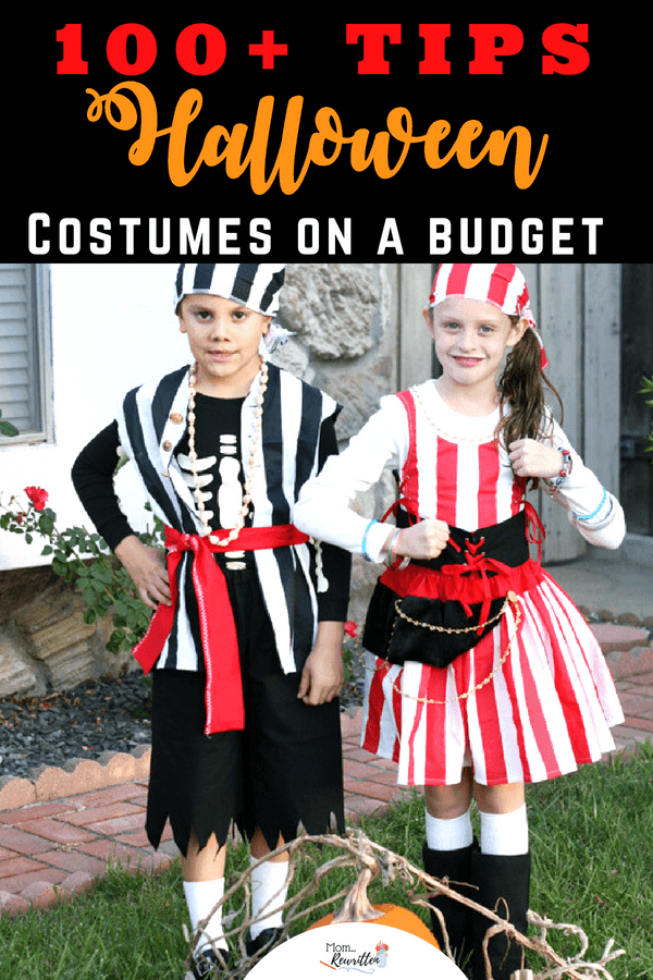 Make Halloween costumes on a budget with these 100 ideas and tips for making your own Halloween costumes at home. #Halloween #Costume #DressUp #Handmade #Fall #Budget #HalloweenCostume #BudgetHalloween #CheapCostumes