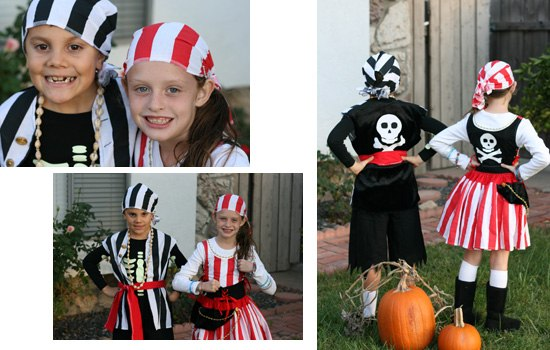 Argh! Brother and sister pirate Halloween costumes {Saving Up for Disney}