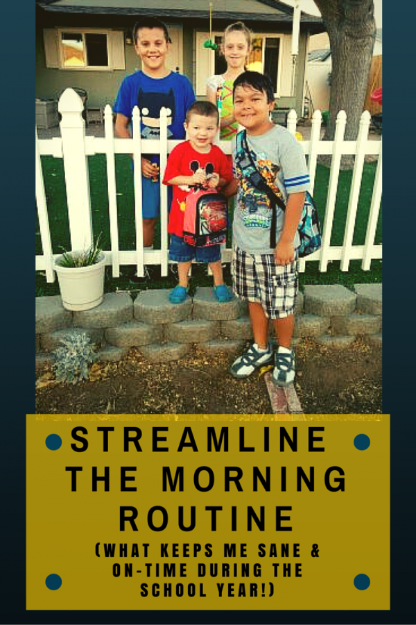 Streamline the Morning Routine (What Keeps Me Sane and On-time During the School Year). Dozens of tips for back to school and all year-round!