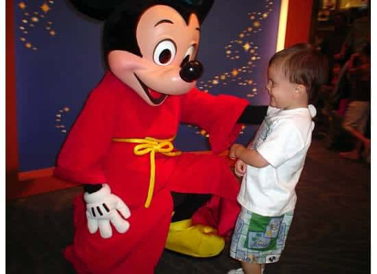 Meeting Mickey for the first time {Saving Up for Disney}