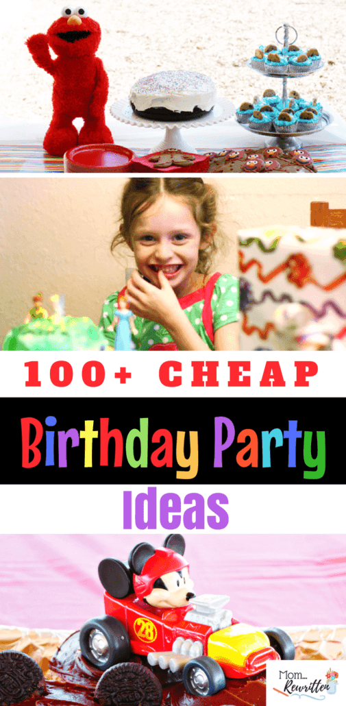TONS of birthday party on a budget ideas! Dozens of creative themes, decorations and food ideas for all types of parties. #BirthdayParty