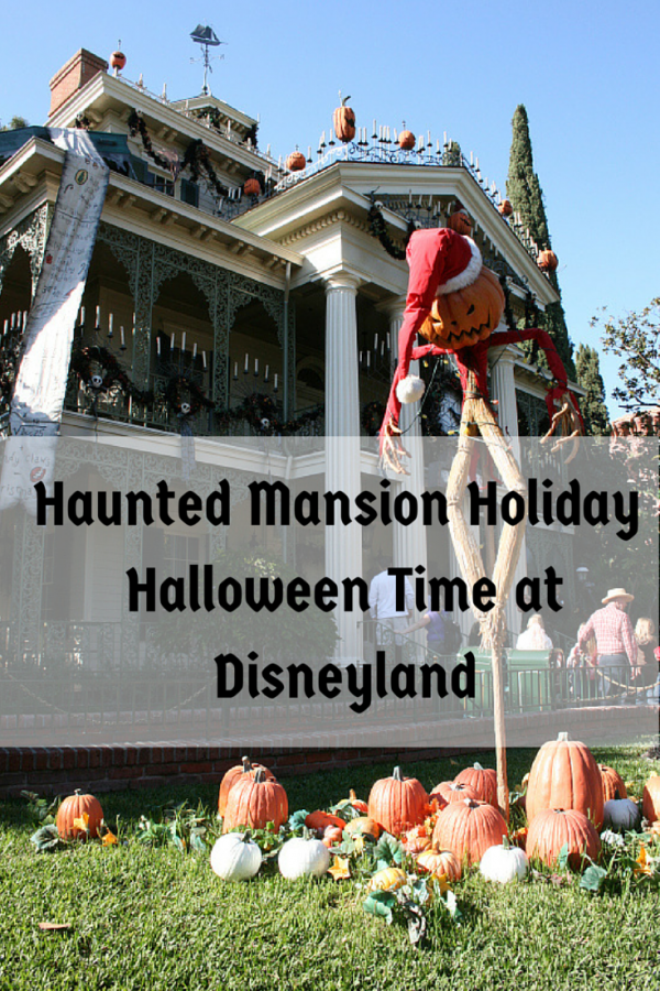 Haunted Mansion Holiday at Disneyland during Halloween Time