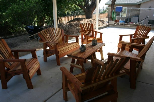 Handcrafted patio furniture