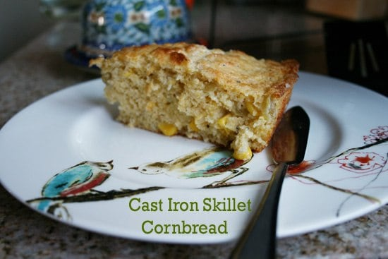 Cast iron skillet cornbread with Walt Disney's Chili