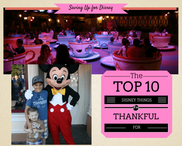 10 Disney Things I'm Thankful For