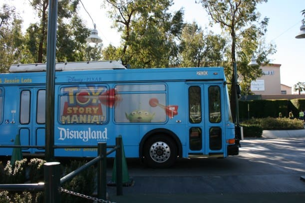 "Taking the Disneyland shuttle from ""off-site"" parking lots"