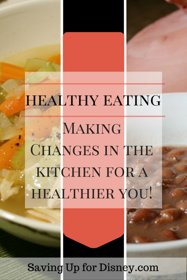 Healthy Eating - Making Changes in the Kitchen Towards a Healthier You! Tons of ideas for getting out of your eating rut and getting healthy.