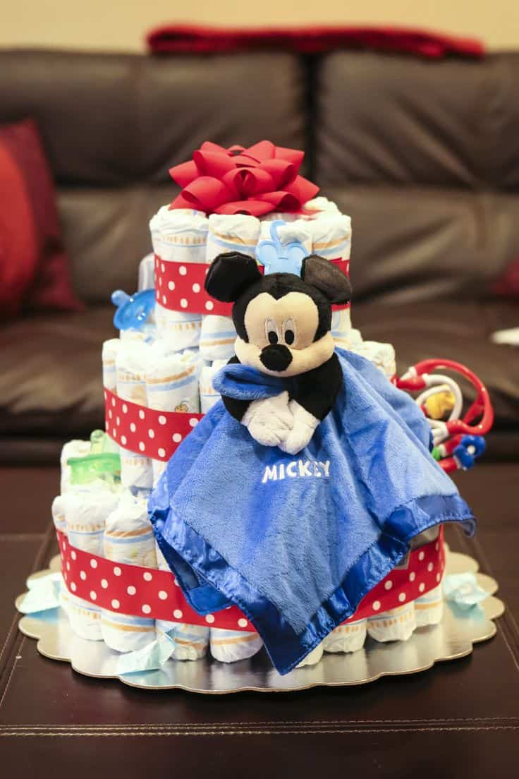A Disney Themed Diaper Cake Is Adorable And Functional! (images From Left  To Right, The Photographeru0027s Wife, Disney Baby, Princess And The P Baby