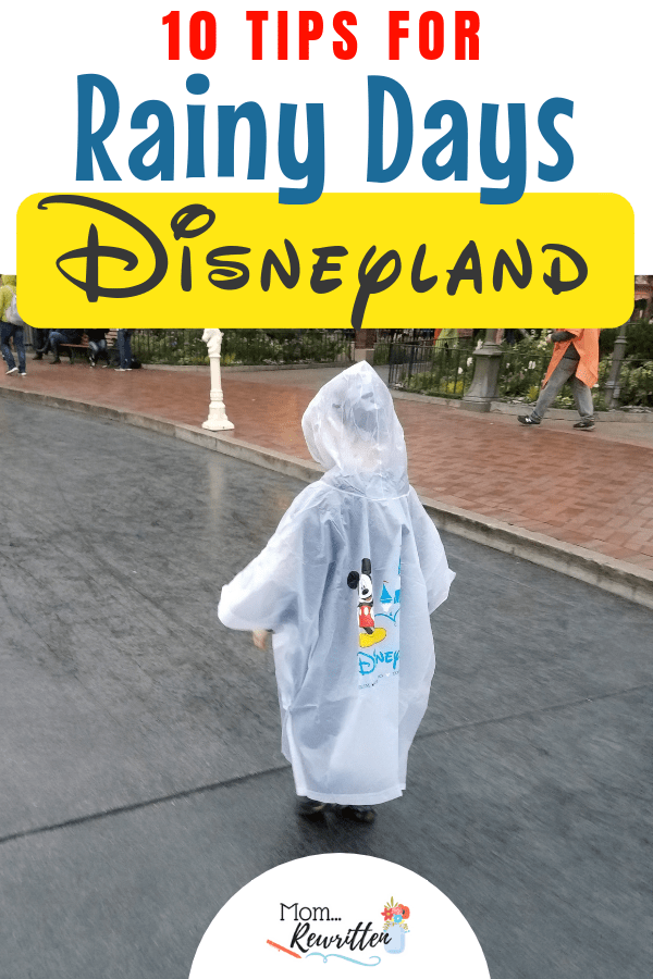 Raining at Disneyland? These are the 10 must-read tips if there's rain at Disneyland! If rainy weather is in the forecast during your California Disney vacation, you might be wondering what rides stay open, crowd-levels and what to wear when it's wet. Find out where to go and dry off, shows and attractions that happen in the rain and how to dress for Disneyland in the rain. #Disney #Packing #Disneyland #RainyTravel | Disneyland Rain | Rain in California | Winter Travel | Spring Showers