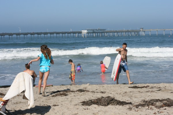 Enjoying the beach in San Diego