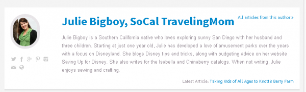 SoCal Traveling Mom, Julie Bigboy