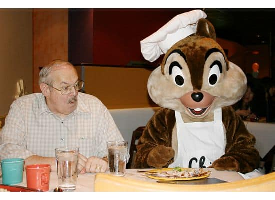 Dining with Chip (or Dale?) at Goofy's Kitchen (circa 2008)