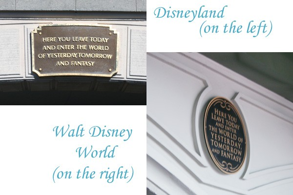 Similarities Between Disneyland & Walt Disney World