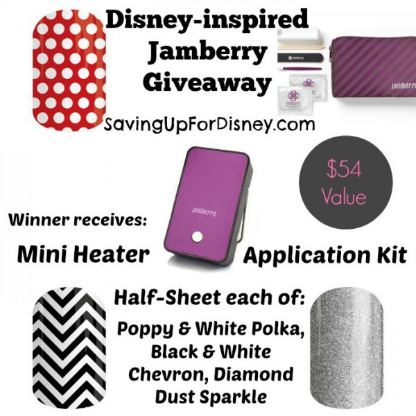 Disney-inspired Jamberry Sweepstakes Giveaway! Do you love nail art? Enter to win this fantastic Jamberry nail wrap prize package!