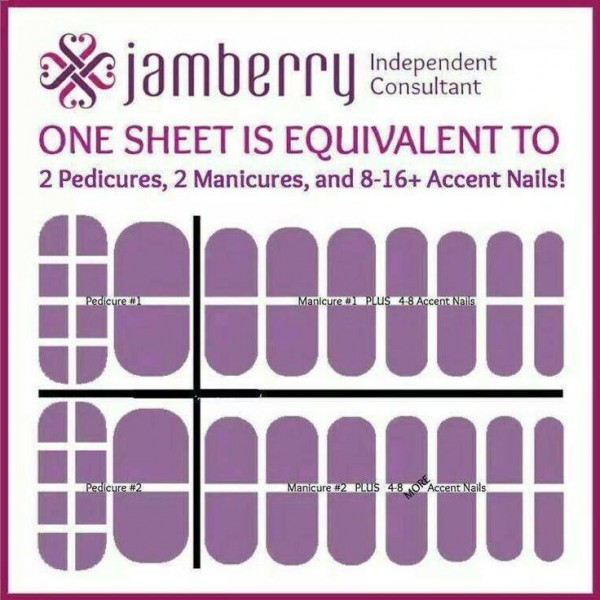 One sheet of Jamberry nails wraps gives you two manicures, two pedicures and extra for accents. You can't get that many salon treatments for such a wonderfully love price! Enter the Disney-inspired Jamberry Giveaway Sweepstakes! on my website.