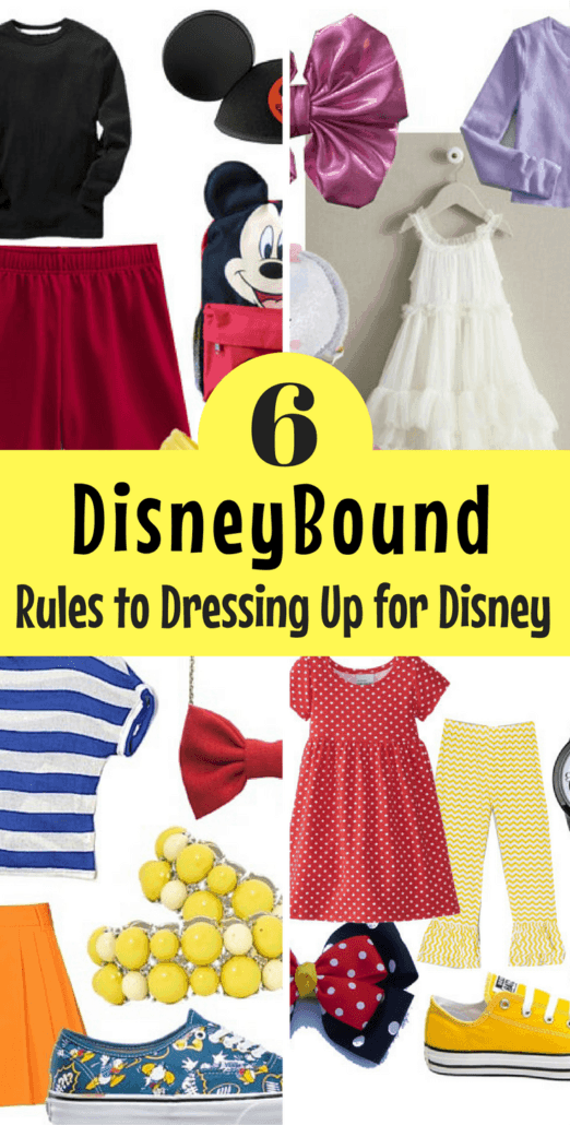 Find out what DisneyBound is and what the rules are to dressing up for Disney inside the theme parks! Lots of fun DisneyBounding ideas.