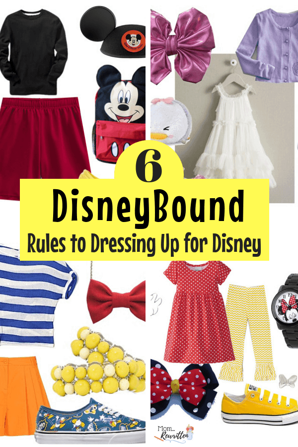 Find out what DisneyBound is and what the rules are to dressing up for Disney inside the theme parks! Lots of fun DisneyBounding ideas! #Disney #DisneyBound #DressingDisney #DisneyClothes #DisneyCostumes #DisneyVacation #TravelPacking #DisneyBounding #WDW #Disneyland #DisneyWorld