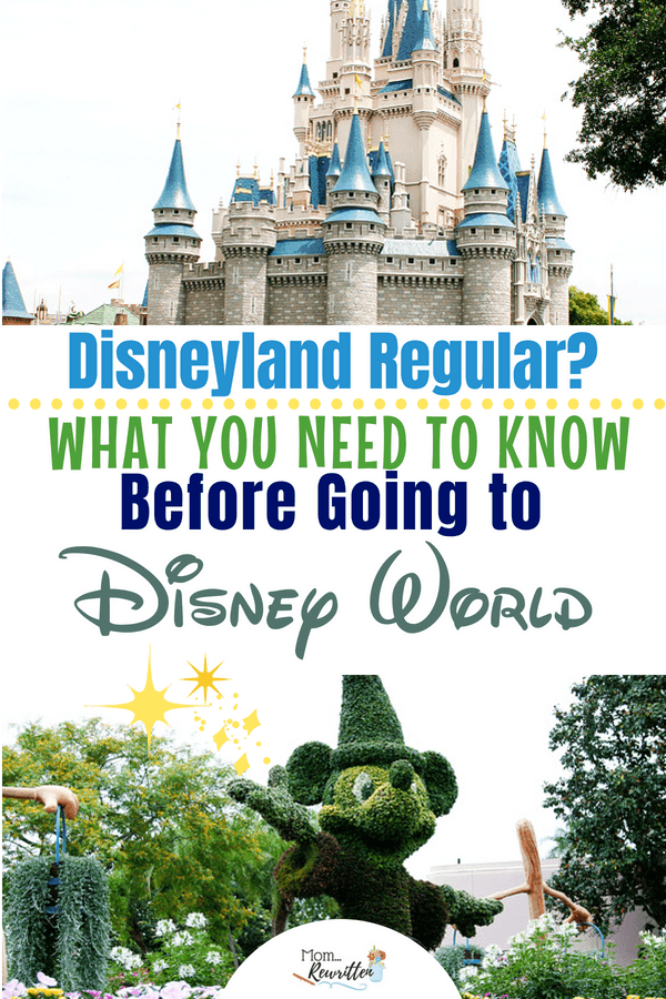 If you're a Disneyland fan visiting Walt Disney World for the first time these are the most important things to know before your trip! Everyone visiting Walt Disney World for the first time should read this advice, especially if you're already a Disneyland regular. #DisneyWorld #VacationPlanning #Disney #Disneyland #AP #WDW #FamilyTravel #TravelwithKids #Florida #Orlando