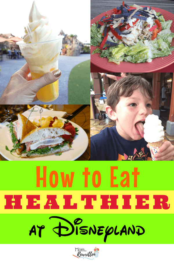 You can eat healthfully at Disneyland and still treat yourself! Find out the tricks for eating healthy at Disney including what snacks to pack & where to dine. #Disneyland #DisneyFood #TravelwithKids #FamilyVacation #Disney #DisneyDining #DisneyFood #HealthyEating