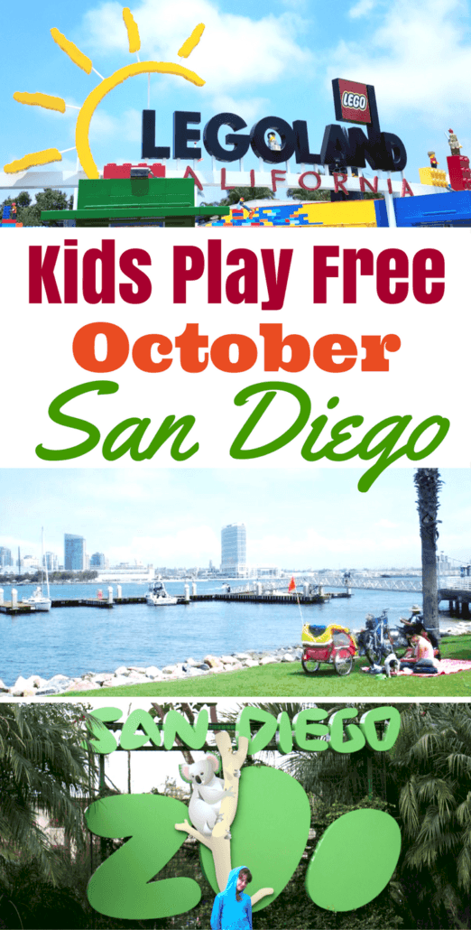 Kids free in San Diego?! 100+ free kids attractions, theme parks and dining in San Diego for the month of October.