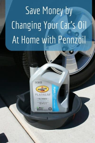 Save Money by Changing Your Car's Oil At Home with Pennzoil #DIYOilChange #ad