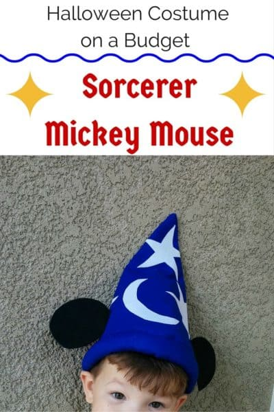 Halloween Costume on a Budget – Sorcerer Mickey Mouse
