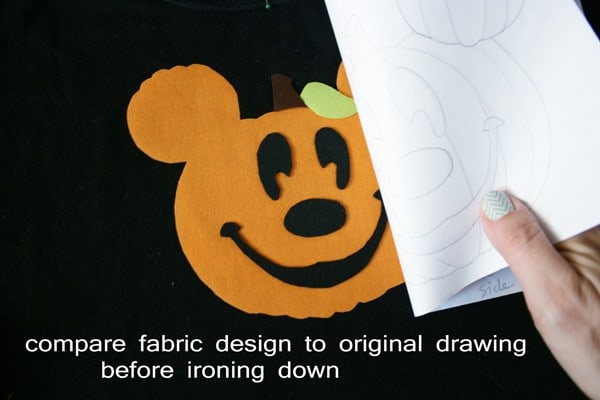 Halloween DIY Disney Mickey Pumpkin Appliqued Tee