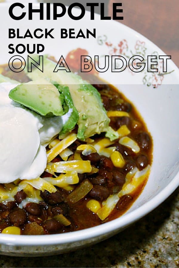 Chipotle Black Bean Soup Recipe on a Budget