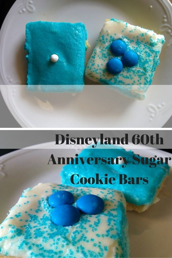 Disneyland 60th Anniversary Sugar Cookie Bars
