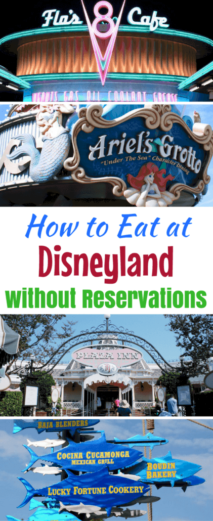 Insider tips on how to eat at Disneyland without Advance Dining Reservations #ADR #Disneyland