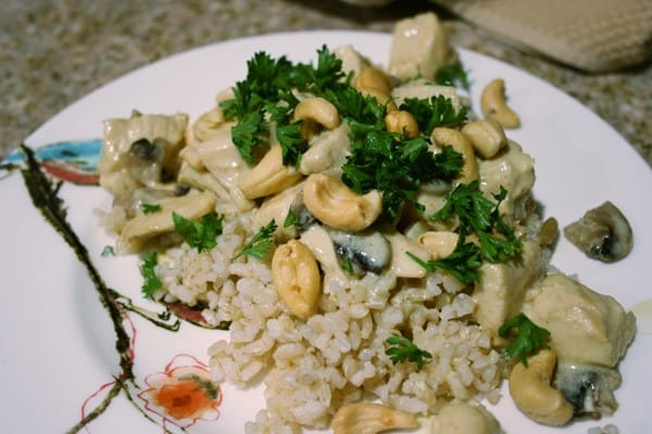 Eat at Home & Save - Creamy Cashew Chicken and Rice Recipe