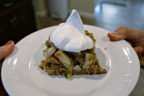 Healthier Apple Oatmeal Cake