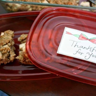 Holiday Dessert-to-Go – Apple Oatmeal Cake Recipe and FREE Printable #ShareTheHoliday