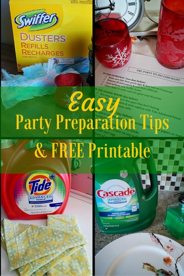 Easy Party Preparation Tips & FREE Printable #HostingHacks @Costco #ad