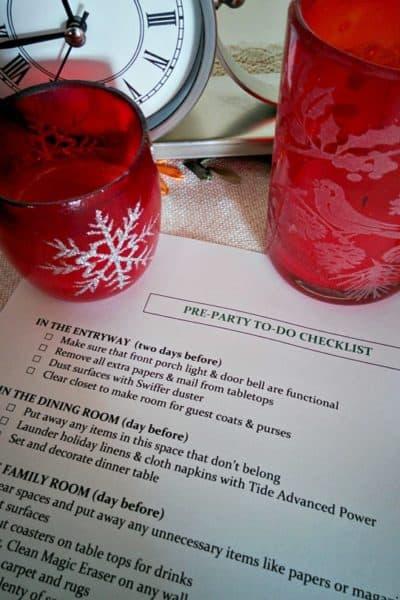 5 Easy Party Preparation Tips & FREE Printable #HostingHacks @Costco #ad