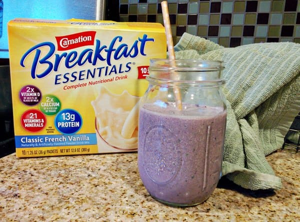 """""""Sneaky"""" Berry Smoothie with Leafy Greens"""