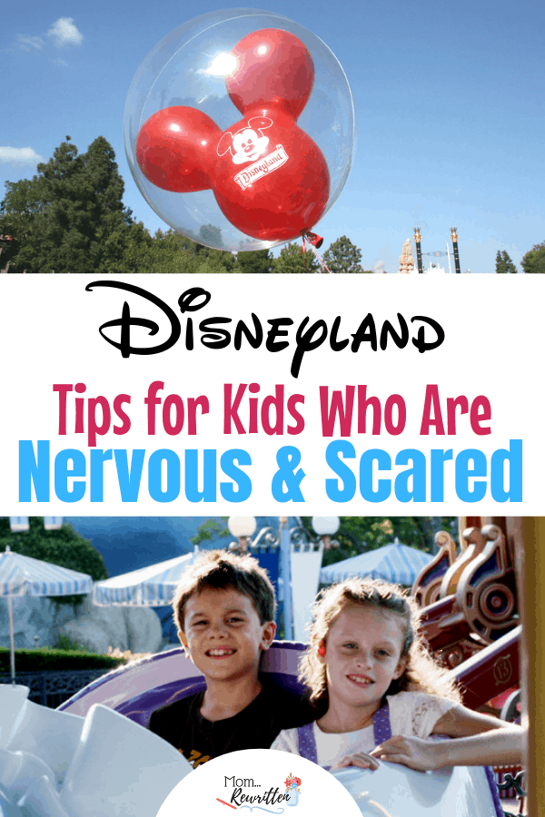 Think your kids might be scared at Disney? Whether you're headed to Disneyland in California or Walt Disney World in Florida, these 5 tested tips are sure to help kids who are nervous, anxious or scared enjoy their vacation! Practical advice for kids of all ages, including those with special needs or sensory issues. #Disneyland #DisneyWorld #SpecialNeeds | Family Travel | Travel with Kids | Autism Travel | Disney Tips