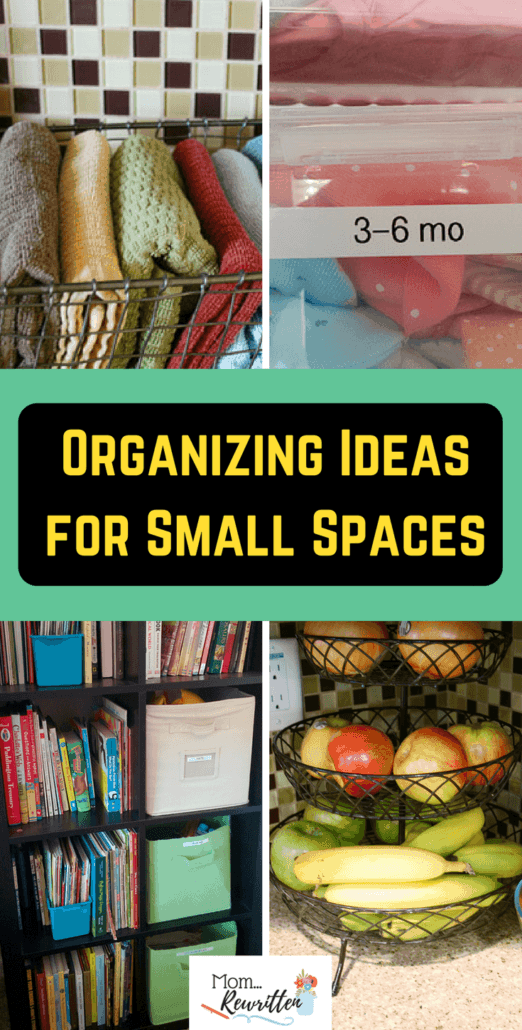 Organizing small spaces can be tricky. Check out these clever budget-friendly, practical organizing solutions specifically for small spaces. #Organizing