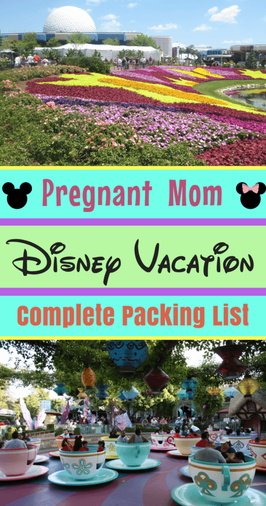 Pregnant at Disney? This is the expectant mom's complete Disney packing list of important needs. Don't pack your bags until you check this list of must-haves for every pregnant woman going on a Disney vacation! #Disneyland #DisneyWorld