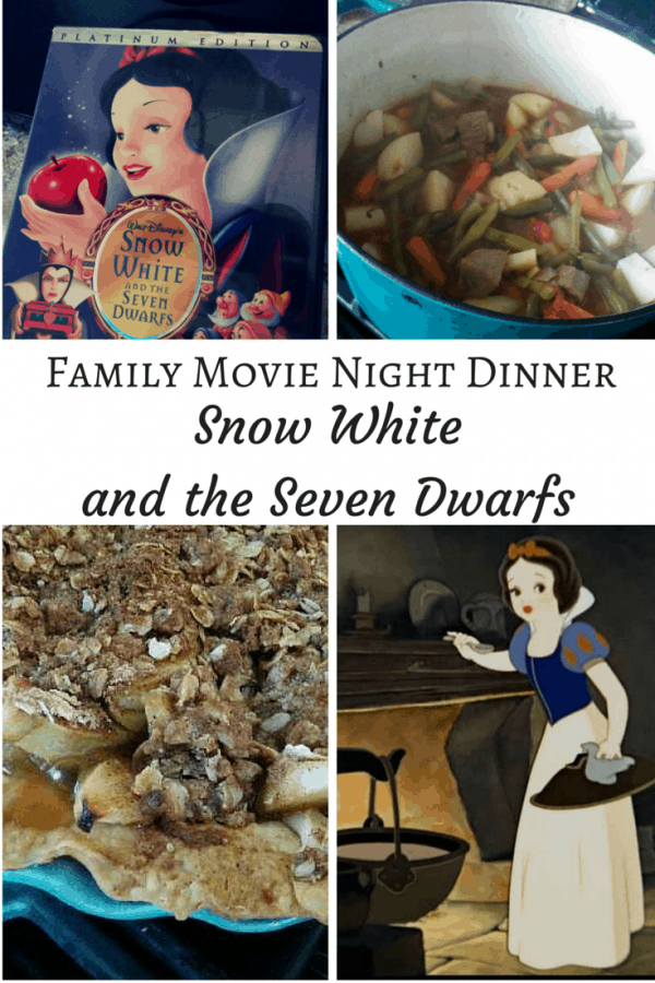 Family Movie Night Dinner - Disney Classic Snow White and the Seven Dwarfs