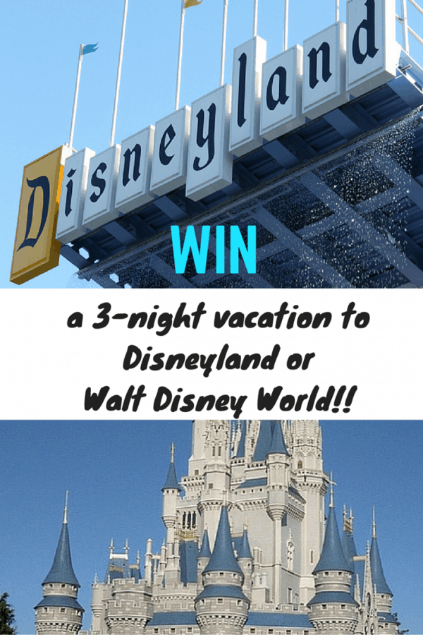 BIG Disney Vacation GIVEAWAY from ParkSavers!! Win a 3-night vacation to your choice of Disneyland or Walt Disney World