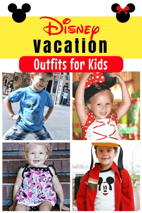 What should kids wear at Disney parks? These Disney vacation outfits for kids will have them cute, cool and comfortable in the parks! Tons of ideas on dressing up for Disney, with tips from head to toe for Disneyland and Disney World vacations. #Disneyland #Disney #DisneyWorld #DisneyOutfits #DisneyBound #DisneyKids #DressingKids